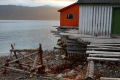 Wooden fishing shack Stock Image