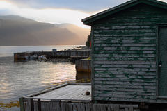 Wooden fishing shack Royalty Free Stock Image