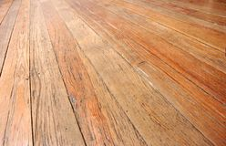 Wooden floor. Closeup, perspective view Royalty Free Stock Images