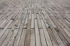 Wooden floor. Exterior old wooden floor texture Stock Images