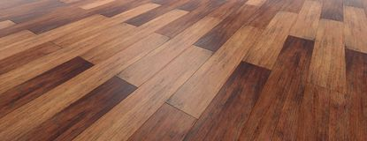 Free Wooden Floor Background, Perspective View From Above, Banner. 3d Illustration Royalty Free Stock Photos - 111121808