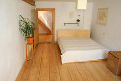 Wooden floor bedroom Royalty Free Stock Photos