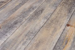 Wooden floor boards with perspective Royalty Free Stock Photography