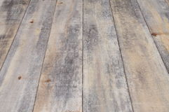 Wooden floor boards with perspective Stock Image