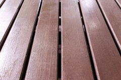 Wooden floor brown color. Closeup Stock Photo