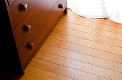 Wooden floor and chest Stock Image