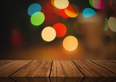 Wooden floor with Christmas theme background. Digital composite of Wooden floor with Christmas theme background Stock Photography