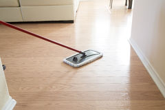 Wooden floor  cleaning background Stock Photos