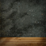 Wooden floor and concrete wall Stock Image