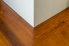 Wooden floor corner of the room Stock Photography