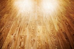 Wooden floor covering Stock Images