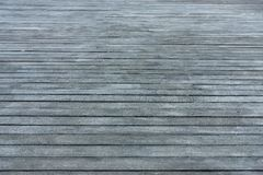 Wooden floor from gray boards Stock Image