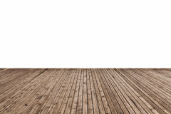 Wooden floor isolated. On white with clipping path stock photo