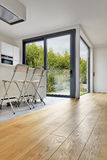 Wooden floor in a Modern apartment interior Stock Photo