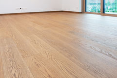 Wooden floor in modern house Royalty Free Stock Photo