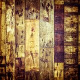Wooden floor with nails Royalty Free Stock Images