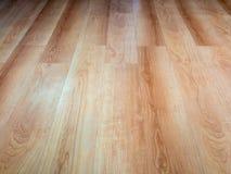Wooden floor. New wooden floor of brown color stock photography