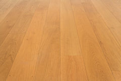 Wooden floor, oak parquet - wood flooring, oak laminate Stock Image