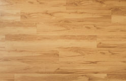 Wooden floor - oak wood parquet / laminate background Royalty Free Stock Images