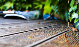 Wooden Floor. Outdoor wooden floor for garden/balcony Stock Image
