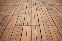 Wooden floor perspective. Background photo texture Royalty Free Stock Images