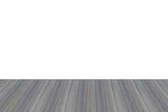 Wooden floor perspective on white background Stock Photo