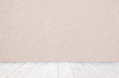 Wooden floor and rough wall, vintage room design Royalty Free Stock Image