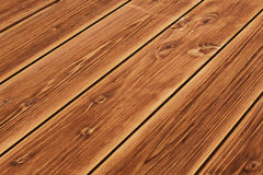 Wooden floor texture for background perspective Royalty Free Stock Photography