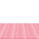 Wooden floor texture background on white, pink pastel colour, pe. Wood floor pink pastel colour perspective on white background Royalty Free Stock Image