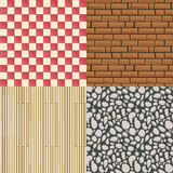 Wooden floor texture, stone pattern and tiles Royalty Free Stock Images