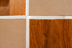 Wooden floor and tile Royalty Free Stock Image