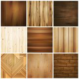 Wooden Floor Tile Set Royalty Free Stock Photos