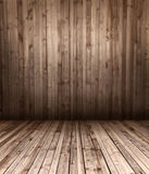 Wooden floor and wall Stock Photos