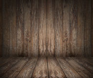 Wooden floor and wall stock images
