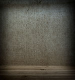 Wooden floor and wall fabric Royalty Free Stock Photos