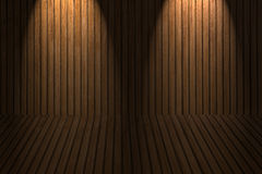 Wooden floor and wall royalty free stock photo