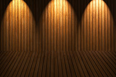 Wooden floor and wall royalty free stock image