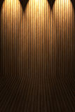 Wooden floor and wall Stock Image