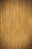 Wooden floor and wall royalty free stock images