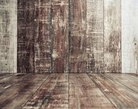 Wooden floor and wall interior Stock Image