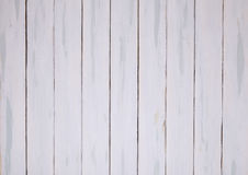 Wooden floor. White distressed painted wooden floor Stock Photos
