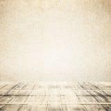 Wooden Floor With Sky Background Stock Image