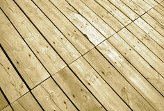 Wooden flooring. Close-up image shows detail of wooden flooring Royalty Free Stock Images