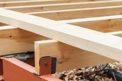 Wooden flooring under construction Stock Photos