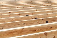 Wooden flooring under construction, abstract Stock Photos