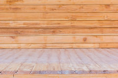 Wooden flooring and wall used for background Royalty Free Stock Image
