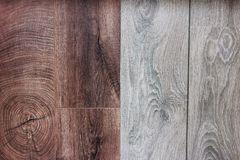 Wooden floorpanels. A close up of two wooden floorpanels Stock Images