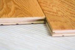 Wooden flor. Wood for floor, shiny floor, laminate floor Stock Image