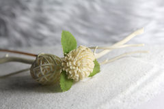 Wooden flower and ball royalty free stock photos
