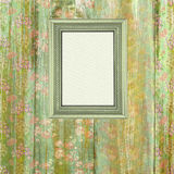 Wooden flower frame background Royalty Free Stock Photos